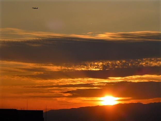 写真: 大阪の夕日