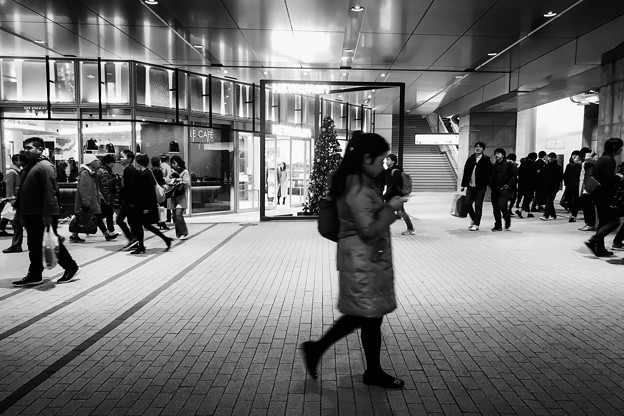 Shinjuku Station in December
