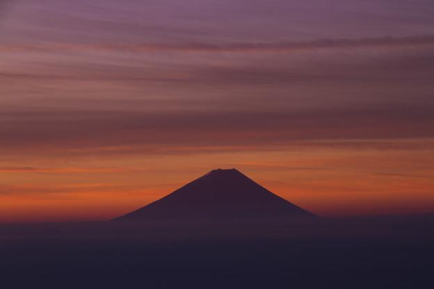 Photos: 朝焼けの富士