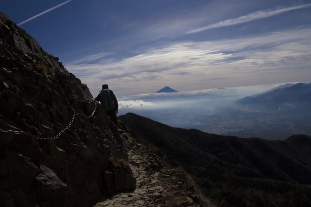 Photos: 鎖場からの富士