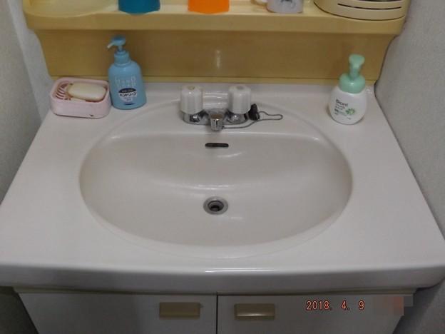 2018/04/09(月)・洗面所のお掃除しました(#^^#)