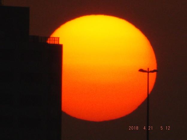 2018/04/21(土)の朝陽・2