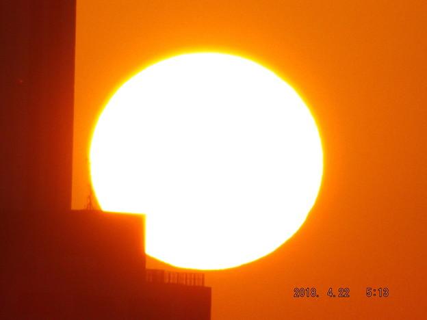 写真: 2018/04/22(日)の朝陽・7