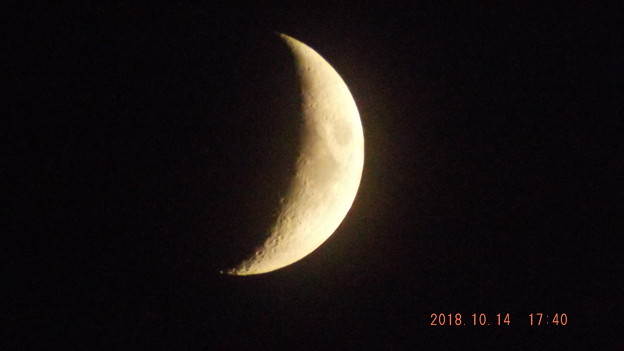 2018/10/14(日)のお月様