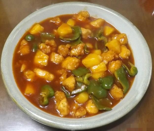 2019/07/16(火)・揚げ鶏とパイナップルの甘酢ソース