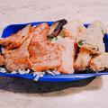 0415_チャリ弁コロッケと焼肉