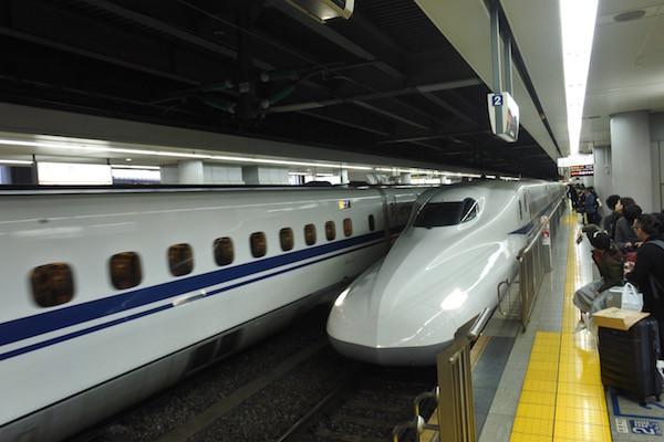 品川から大阪の自宅へ向かう