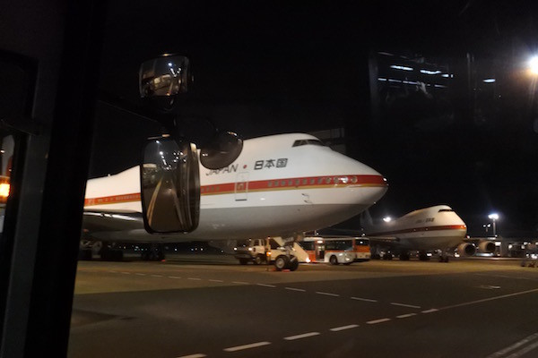 日本の政府専用機。主務機と予備機