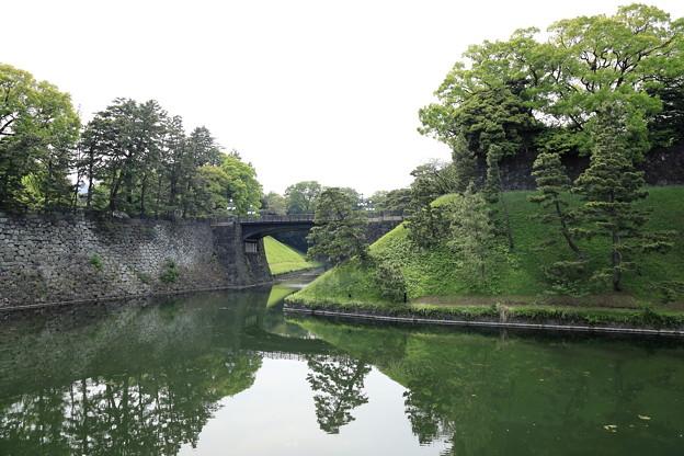 5月3日の皇居 皇居正門鉄橋
