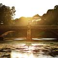 写真: 正面石橋