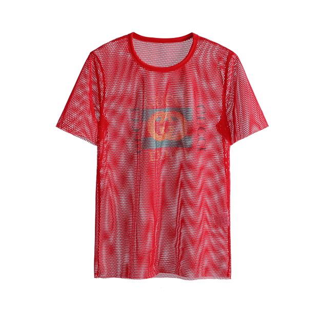 gucci小さなロゴにtシャツがプリントされています 。夏ウェア 半袖 tee クルーネック クラシック プリント ユニセックス