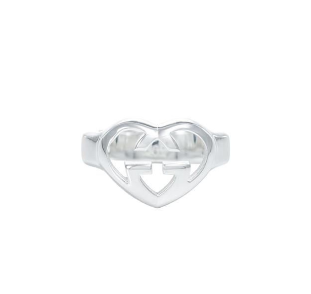 グッチ GUCCI SV925 リング 指輪 シルバー925 Gマーク アクセサリー GGリング 246489-J8400-8106-07 レディース ハート