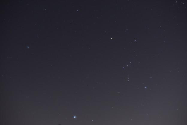 オリオン座と冬の大三角形