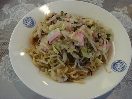 長崎・会楽園の皿うどん(太めん)