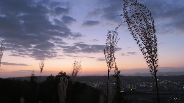 朝焼けの風景
