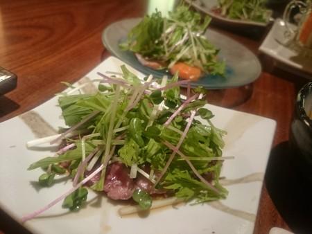 心菜 カルパッチョ&牛たたき
