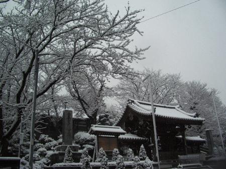 雪景色・妙法寺