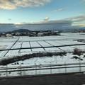 写真: 雪積もってる