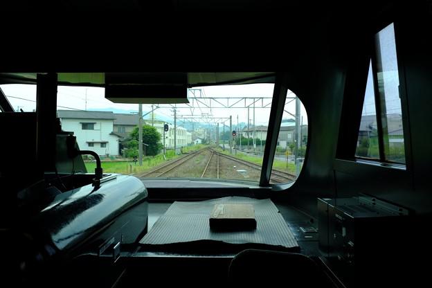 いしづち号の運転室展望