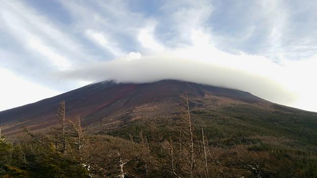笠雲の富士山