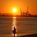 六甲アイランドの夕日