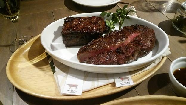 和牛ステーキで新年会