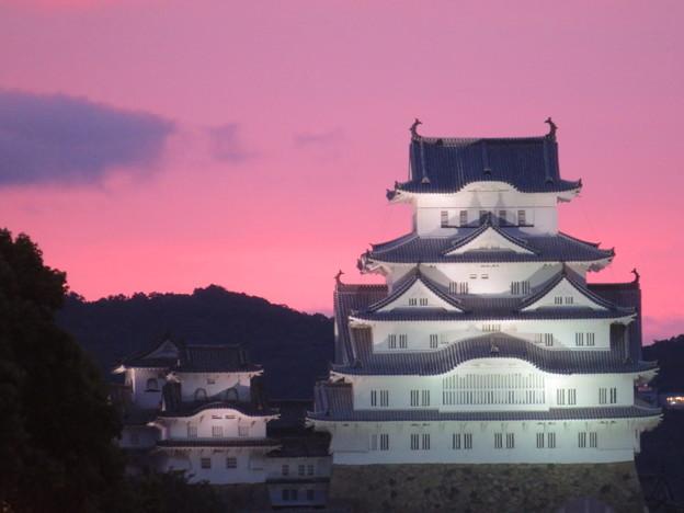 夕焼けの姫路城
