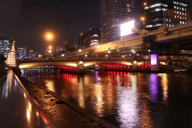 中之島公園・水晶橋の夜景