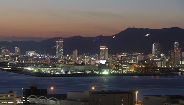 六甲山に神戸の夜景