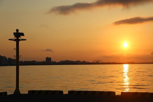 六甲アイランドの朝陽