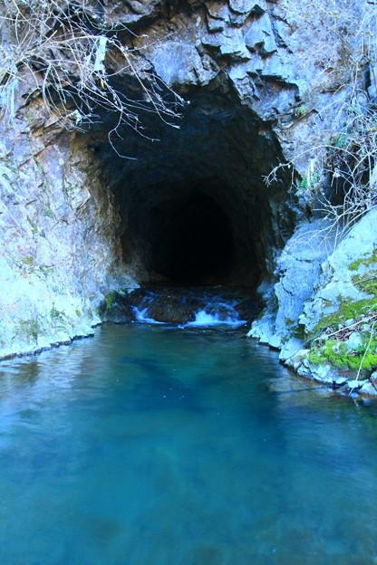 太平田の水路 鮎川