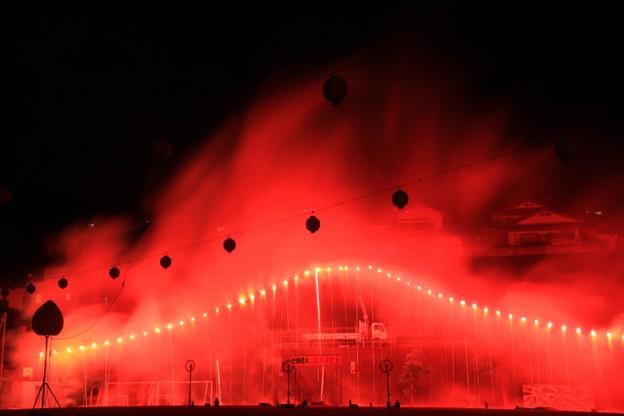 80 仕掛け花火・はなやま富士 塙山さんさん祭り