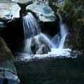 石灰山口の白い滝