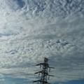 Photos: ウロコ雲と高圧鉄塔♪
