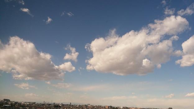 病室から空と雲