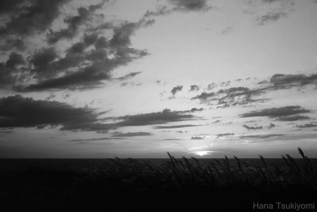 Photos: 島の夕陽