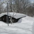 埋もれる玉原自然環境センター