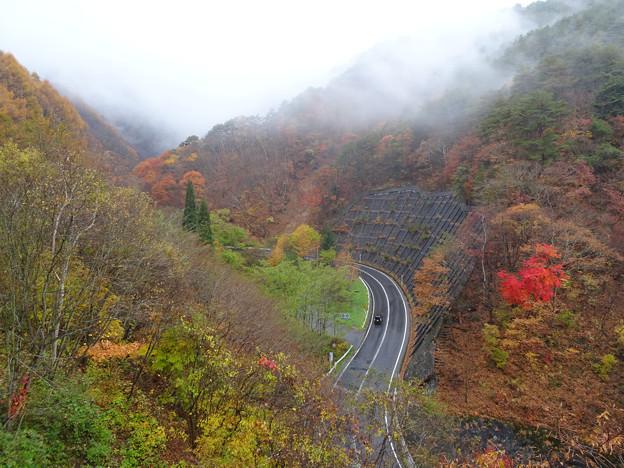 須坂に下る道