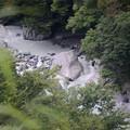 真っ白な川の流れ