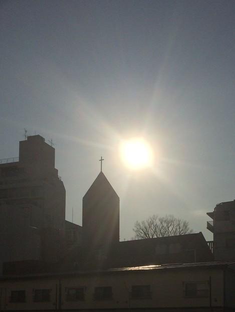 十字架と日射し IMG_4003tr