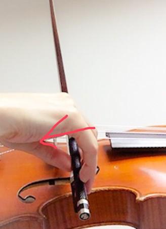 中野・江古田 バイオリン 個人レッスン ヴィオラ 吉瀬弥恵子 ワイズ音楽教室 右手は引き寄せる感じで