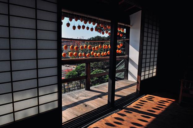 Photos: 干し柿のある二階