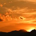 写真: 今日の陽は落ちて