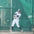 Photos: 福島が指名した岸本竜之輔選手(東北福祉大)