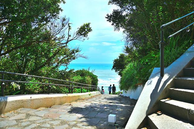 海の見える階段