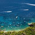 写真: カプリの碧い海
