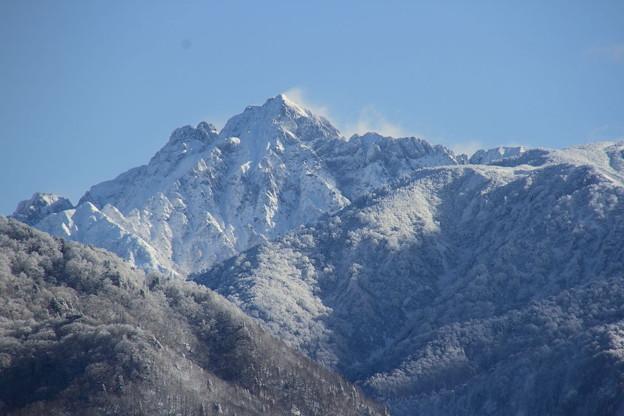 雪煙の剱岳